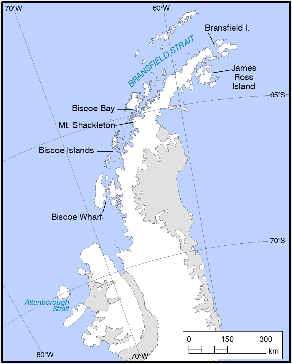 Names of BAS Research Vessels, noted in Antarctic Place names.